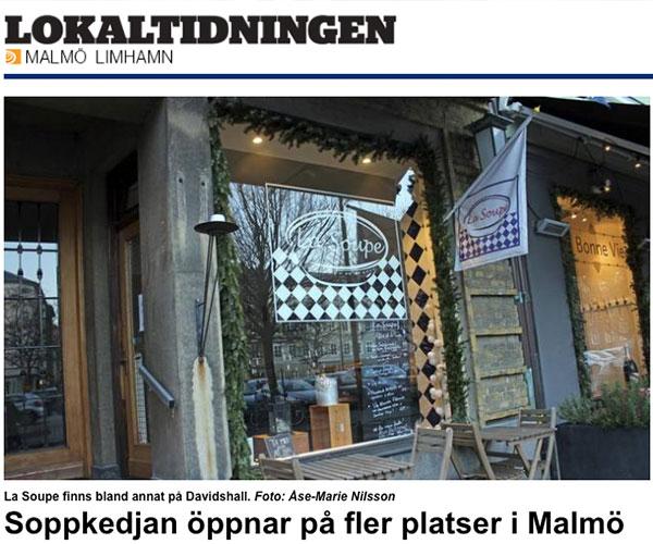 SOPPKEDJAN ÖPPNAR PÅ FLER PLATSER I MALMÖ