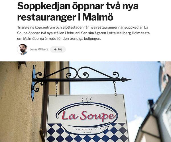 Soppkedjan öppnar två nya restauranger i Malmö
